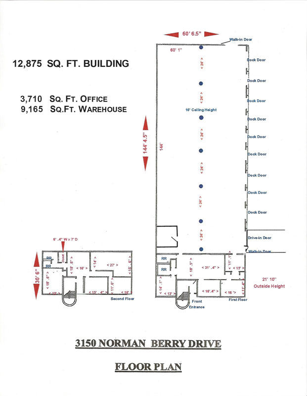 Warehouse space for lease near atlanta airport atlanta for Warehouse building plans